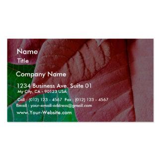 Feuille vert et rouge carte de visite standard