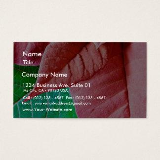 Feuille vert et rouge cartes de visite