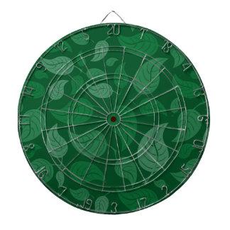 Feuille vert jeu de fléchettes