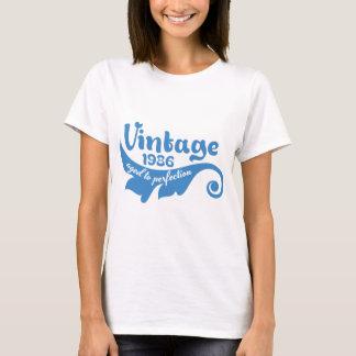 FEUILLE vintage âgée au bleu de la perfection 1986 T-shirt