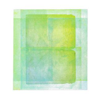 Feuilles d'aquarelle de vert bleu bloc-note