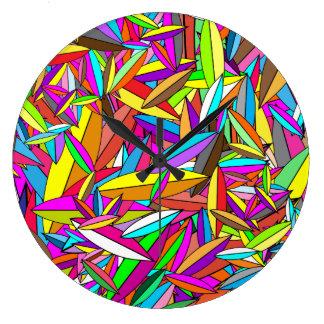 Feuilles par le konyukhov d'ilya (c) grande horloge ronde