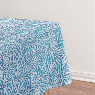 Feuillu bleu et blanc nappe