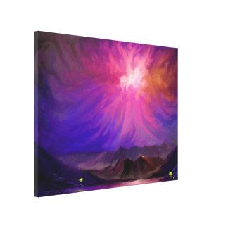 Feux au coucher du soleil - toile d'art numérique  toile tendue