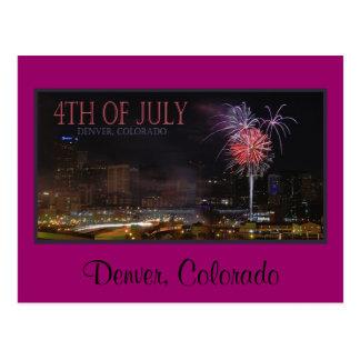 feux d'artifice de carte postale, Denver, le
