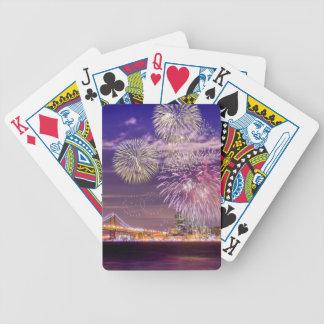 Feux d'artifice de nouvelle année de San Francisco Jeu De Poker