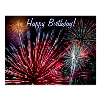 Feux d'artifice, joyeux anniversaire ! cartes postales