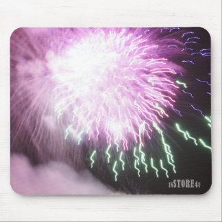 Feux d'artifice Mousepad - feux d'artifice violets Tapis De Souris