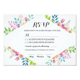 Fiançailles floral de fleurs de cartes de mariage carton d'invitation 8,89 cm x 12,70 cm