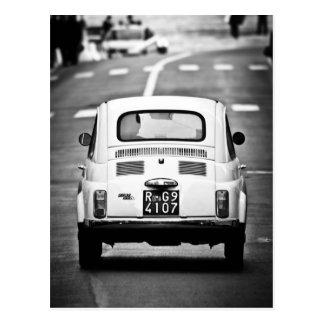 Fiat 500 à Rome, Italie Carte Postale