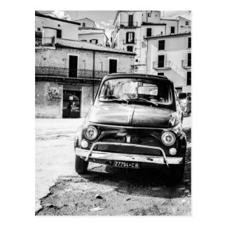 Fiat 500, cinquecento en Italie, cadeau classique  Carte Postale