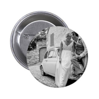 Fiat 500 en Italie cadeaux de mariage classiques Pin's