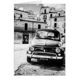 Fiat 500 en rétros cadeaux de voyage de l'Italie Cartes