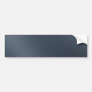 Fibre bleue de carbone de Faux modelée Autocollant De Voiture