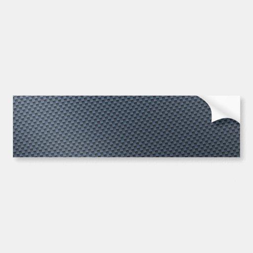 Fibre bleue de carbone de Faux modelée Autocollant Pour Voiture