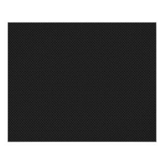 Fibre micro noire de carbone de Kevlar de trou Prospectus 11,4 Cm X 14,2 Cm