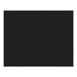 Fibre perforée noire de carbone de Kevlar de trou Prospectus 11,4 Cm X 14,2 Cm