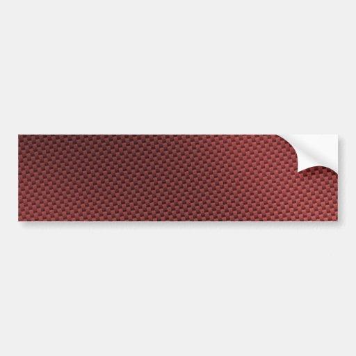 Fibre rouge de carbone modelée autocollant pour voiture