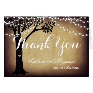 Ficelle des cartes légères de Merci de mariage de