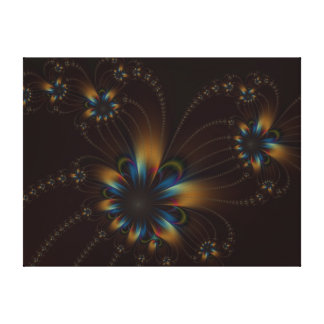 Ficelles de fleur sur la copie de toile de chocola
