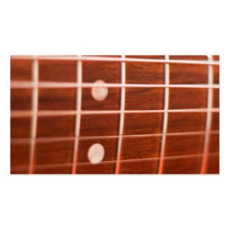 Ficelles de guitare modèle de carte de visite