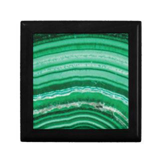 ficelles vertes de roche boîte à souvenirs