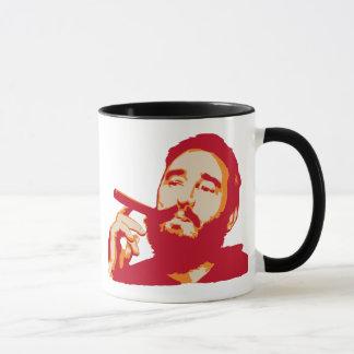 Fidel Castro avec la tasse de portrait de cigare