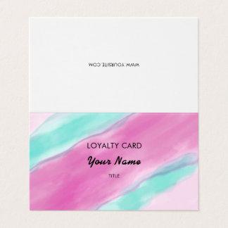 Fidélité bleu vert rose de professionnel carte de visite