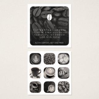 fidélité de grammes de café carte de visite carré
