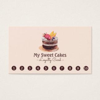 Fidélité élégante de client de poinçon du gâteau cartes de visite