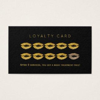 Fidélité fascinante de maquilleur de noir de cartes de visite