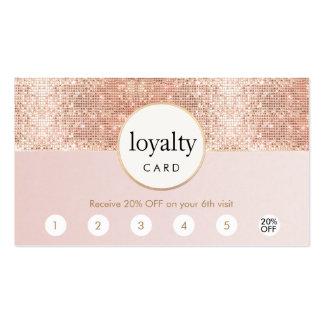 Fidélité rose et rose de poinçon du salon 6 de carte de visite standard