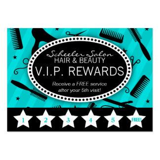 Fidélité turquoise et noire de salon modèles de cartes de visite