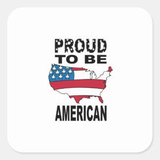 Fier d être américain adhésif