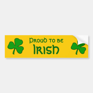 Fier d'être adhésif pour pare-chocs irlandais de autocollant pour voiture