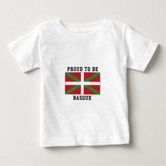 Fier d'être Basque T-shirt Pour Bébé