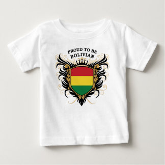 Fier d'être bolivien t-shirt pour bébé