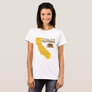 Fier d'être californien t-shirt