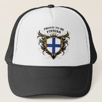 Fier d'être finlandais casquette