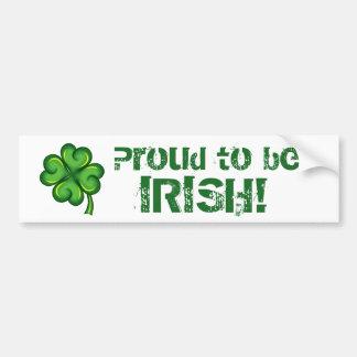 Fier d'être irlandais ! autocollant de voiture