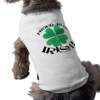 Fier d'être irlandais ! T-shirt de chien