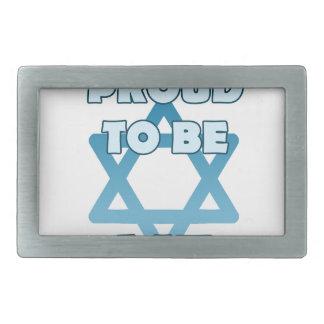 Fier d'être juif boucles de ceinture rectangulaires