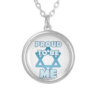 Fier d'être juif pendentif rond