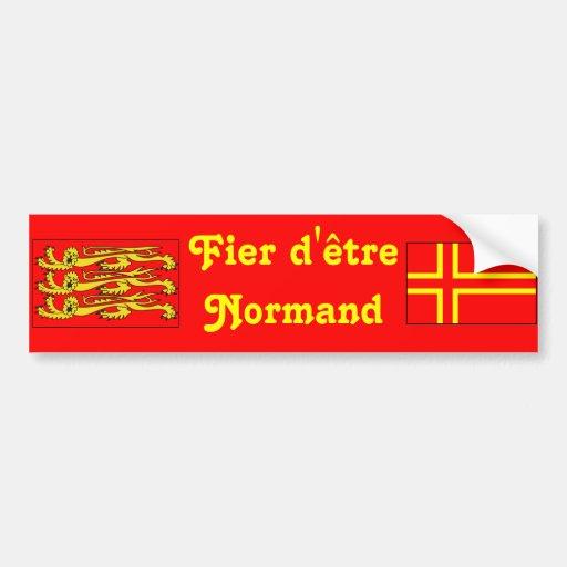 Fier d'être Normand Autocollants Pour Voiture
