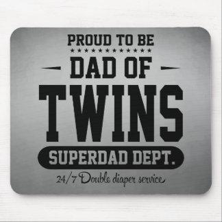 Fier d'être papa de service de Superdad de jumeaux Tapis De Souris