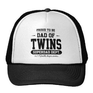 Fier d'être papa des jumeaux Superdad Dept. Black Casquettes