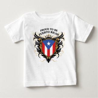 Fier d'être portoricain t-shirt pour bébé