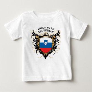 Fier d'être slovène t-shirt pour bébé