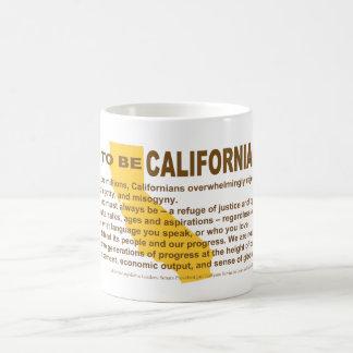 Fier d'être tasse californienne