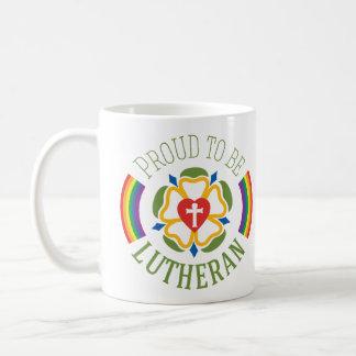 Fier d'être tasse luthérienne - blanc